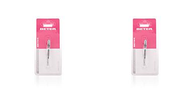 Beter PINZA depilar punta recta cromada 1 pz