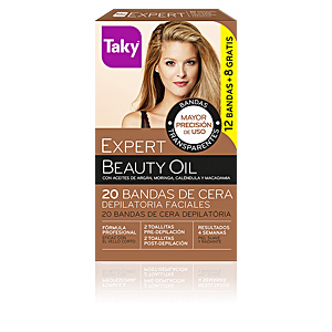 BEAUTY OIL bandas de cera faciales depilatorias 12 uds